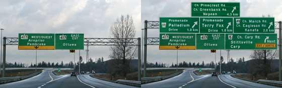 what a highway sign might look like with too much information